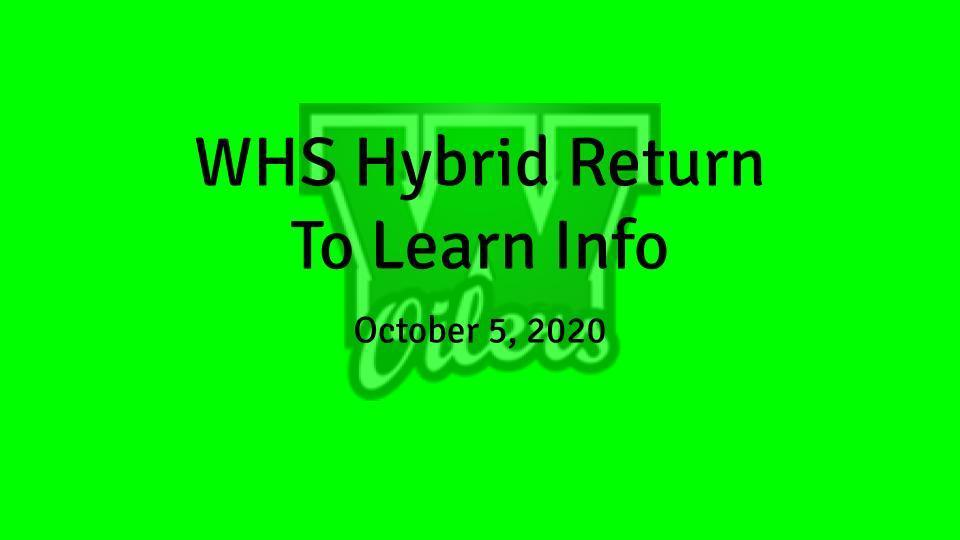 Hybrid Return to Learn Additional Information