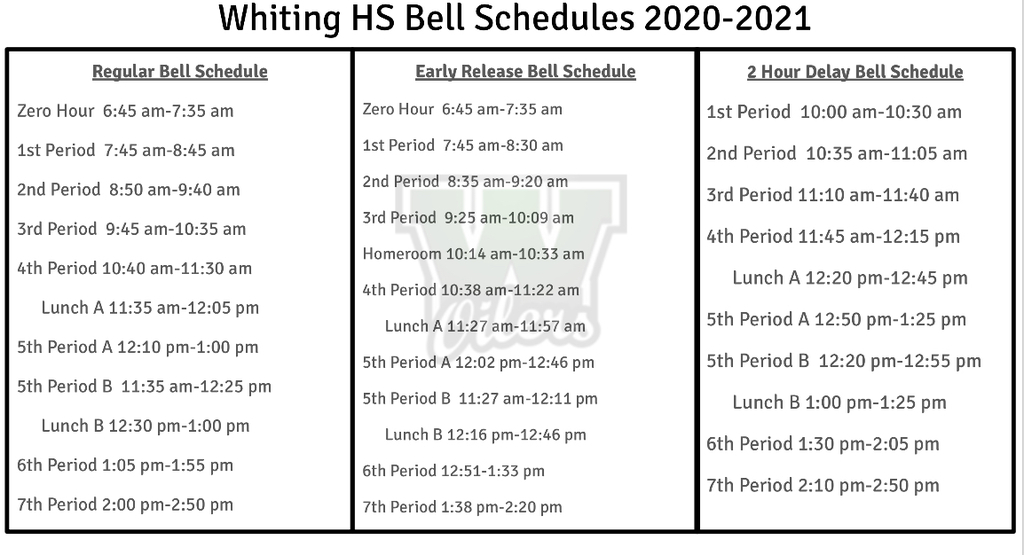 WHS Bell Schedule,